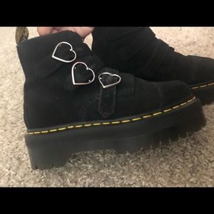 Lazy Oaf x Dr. Martens Black Heart Buckle Boots